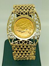 """1899 Full Sovereign 9ct Yellow Gold 7-Bar Gate Bracelet - 7"""""""