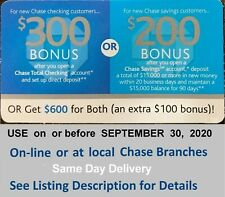 Chase Coupon For Sale Ebay