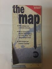 Vintage post 9-11 New York City Subway Guide MAP of the train lines 9/19/2001