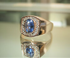Men's Kyanite Ring In Sterling Silver- New Kyanite and CZ Ring Size 10.5