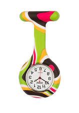 Censi Silicona Enfermera Doctor reloj de bolsillo Con Broche Para Túnica