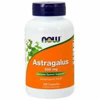 Now Foods ASTRAGALUS 500 mg, 100 capsules IMMUNE SUPPORT