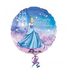 "Cinderella Happy Birthday Foil Helium Balloon Round 18"" Birthday Party"