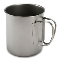 Ultralight Titanium Cup Outdoor Portable Mug Camping Picnic Water Cup with D0G1