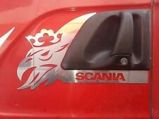 2 pcs Decoration Door For SCANIA Made Of Polished Stainless Steel