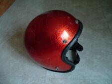Metallic orange metal flake motorcycle bike snowmobile safety helmet 6 7/8-7 5/8