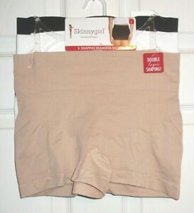 NWT Skinnygirl 3 Pair Shaping Seamless Shorts Size Large MSRP $42