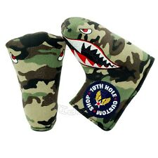 Fighter Plane P-40 Head Cover for Blade & Midsize Mallet Golf Putter, Camouflage