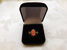 10K Gold Coral Carved Cameo As Found Part