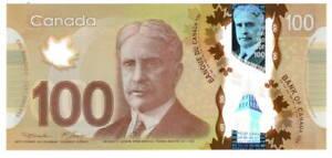 Canada $100 Dollars 2011 P-110a Macklem-Carney UNC EKG Prefix Banknote