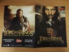 Lord Of The Rings Return Of The King Official Topps Sellsheet Sell Sheet