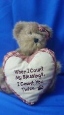 Boyds Gracie Bear When I Count My Blessings The Head Bean Collection Heart
