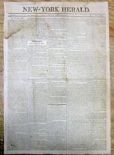 1804 newspaper DEATH of British scientist JOSEPH PRIESTLY- Discoverer of OXYGEN