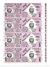 1968 World Series Games 3-4- 5 @ Detroit Replica Salesman Sample Ticket Sheet !