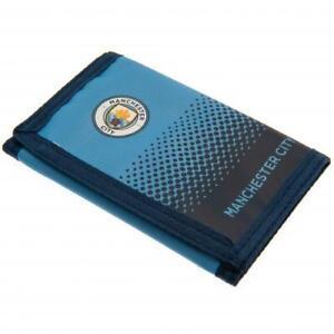 Manchester City Wallet Gift Idea Blue MCFC Nylon Money Wallet