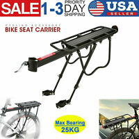 Mountain Bike Bicycle Rear Rack Seat Post Mount Pannier Luggage Carrier Alloy US