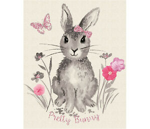 Riley Blake Pretty Bunny Fabric Quilting Panel Make A Lovely Quilt