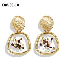 New Fashion Lady Metal Geometric Dangle Drop Statement Earrings Modern Jewelry
