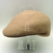 FASHION Wool Felt Men Ivy Hat Newsboy Cabbie Ascot Irish Cap NEW | 57cm | Beige