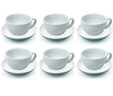 6 Stück Cappuccinotasse und Untertasse, Cappuccinotassen Set, Porzellan 0,20 l