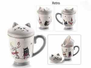 Tasse Tisanière en céramique déco chat