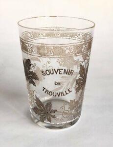 """Verre Normand """"Souvenir de Trouville"""" fin 19ème - cristal"""