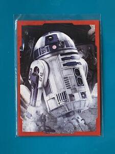 Star Wars Last Jedi 2017 RED CHARACTER PORTRAIT Insert Card CP-8 R2-D2 66/199