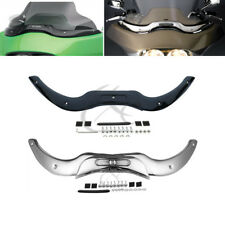 Chrome/Black Windshield Windscreen Trim For Harley Road Glide Ultra FLTRU 04-13