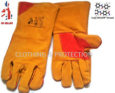 5 X KEVLAR® Premium Quality Reinforced Welding Gloves Leather Safety Gauntlets