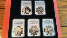 2009 Canada 25 Dollar Olympic Silver Hologram Proof Set Pr69 Cameo