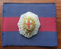 Coldstream Guards Officers Embroidered Cap Badge & Backing