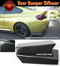 "15"" Rear Bumper Carbon Effect Apron Splitter Diffuser Valence For Honda Acura"
