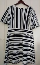 Principles Ben de Lisi Size 16 Monochrome Skater Dress Fit Flare Occasion Smart