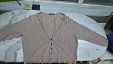REISS V NECK CARDIGAN SAND COLOUR SIZE SMALL