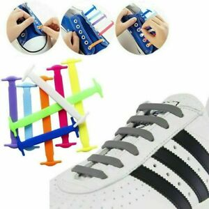 No Tie Elastic Silicone Shoe Laces For Trainers Canvas High Tops Free Delivery