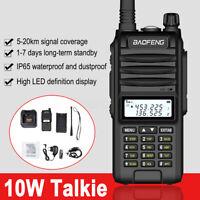 Baofeng BF-UVF10 VHF UHF Walkie Talkie Dual Band Handheld Two Way Radio 15km UK