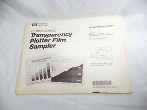 "HP Transparency Plotter Film Sampler Overhead Projection 11"" Edge Loading 17702"