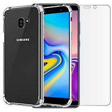 for Samsung Galaxy J6 (plus) Case Clear Shockproof & Glass Screen Protector