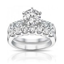 2.05 ct Round Diamond Engagement Ring With Wedding Band In Platinum