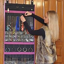 Over The Door Jewelry Organizer Hanging Storage Wall Display Earrings Necklace