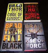 4 Brad Thor USE OF FORCE, HIDDEN ORDER, FULL BLACK, CODE OF CONDUCT ~1ST/1ST