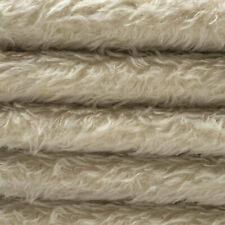 "1/4 yd 325H Oatmeal Intercal 5/8"" Semi-Sparse Heirloom Finish Mohair Fabric"
