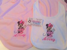 Minnie Baby fairy Personalized Baby Infant Toddler Bib & Blanket Set