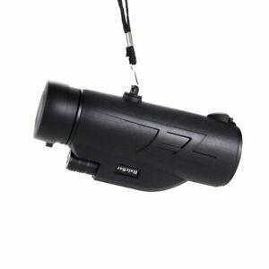 200X80 HD Zoom Portable Monocular Night Vision BAK4 Telescope For Camping
