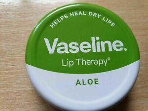 Aloe Vera Vaseline Lip Therapy Balm Petroleum Jelly 20g Pocket Size Pot