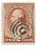 "US Scott # 210 2c Washington Fancy Cancel ""Bullseye""      g4b44"