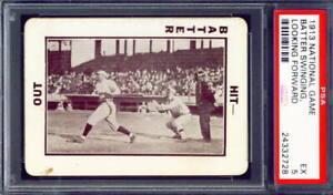 "1913 National Game ""Batter Swinging, Looking Forward"" PSA-5 Baseball"