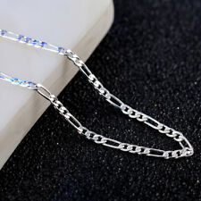Fashion 925 Silver Plated 2 mm Chain Men's Women's Necklace 18