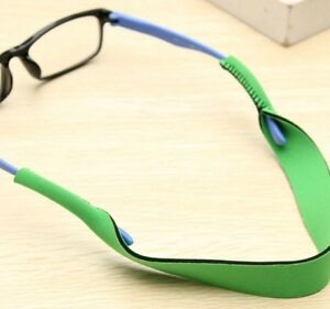 Green neoprene band cord lace lanyard strap string eyeglasses mag sport reading