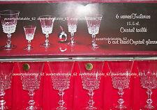 Cristal d'arques 6 verres a vin en cristal modele tuilerie